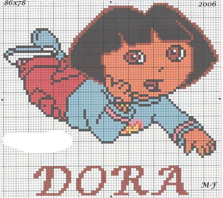 Dora perler bead pattern
