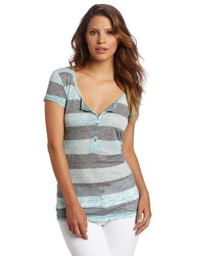 allen allen Women's Cap Sleeve Button Front Henley Shirt Allen Allen. $24.88. Made in USA. 50% polyester/25% cotton/25% rayon. Garment dyed for softness. This striped fitted henley tee looks great on all body types it is a great spring, summer print and can be worn with jeans, shorts, skirt with sandals or wedges for a cute day, pool outfit or dressed up for a casual, dinner or movie night out. Machine Wash. This striped henley tee is made from 50% polyester, 25% co...