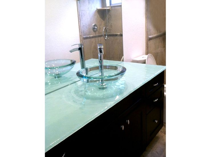 Contemporary Glass Bathroom Countertops Will Create Unique Atmosphere In  Your Powder Room. Innovative And Sophisticated Glass Design For Home Needs.