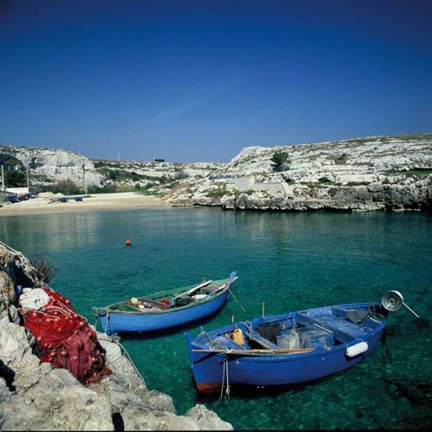 Southern charm: fishing boats in Porto Badisco