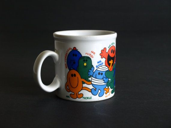 Retro Roger Hargreaves My Mr Men Mug  Kitsch Mr Men by FunkyKoala