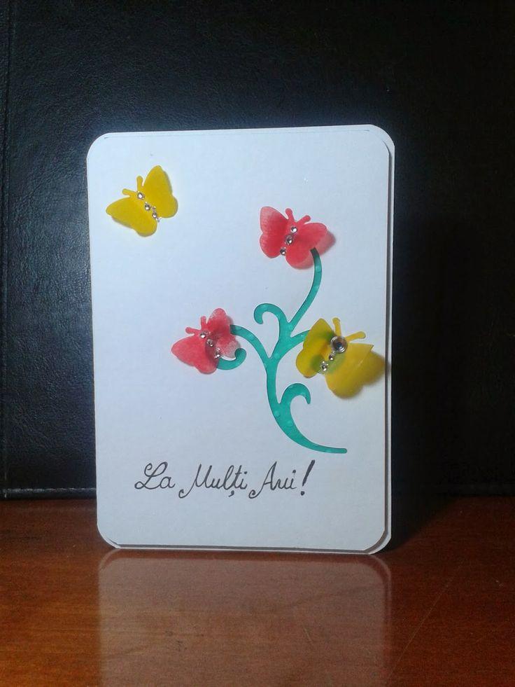 """Happy Birthday!"" Butterfly Handmade Card"