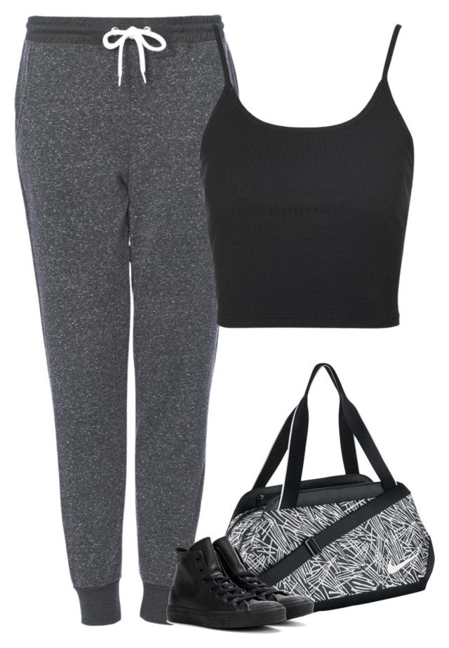 """""""Angel with Jason"""" by fanny483 ❤ liked on Polyvore featuring Topshop, NIKE and Converse"""