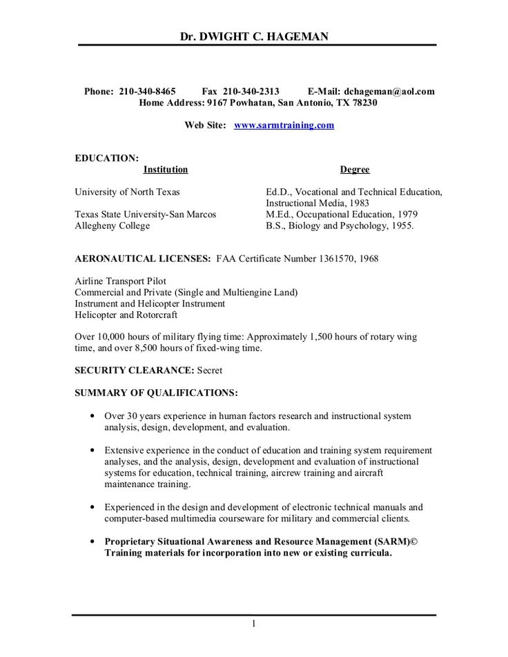 Helicopter Pilot Resume Example - http://resumesdesign.com/helicopter-pilot-resume-example/