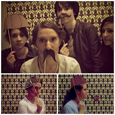 Create your own Sherlock photobooth with the wallpaper from BBC Sherlock! Great for a murder mystery party or a viewing party for the series 3 premier!