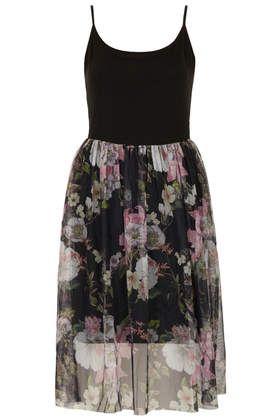 Dark Flower Tulle Dress