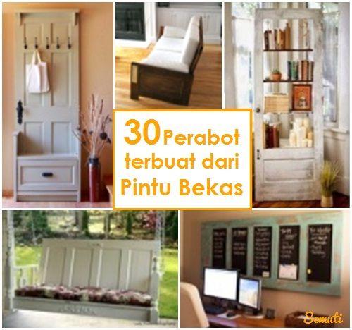 Rumah Semuti: 30 Perabot Terbuat dari Pintu Bekas