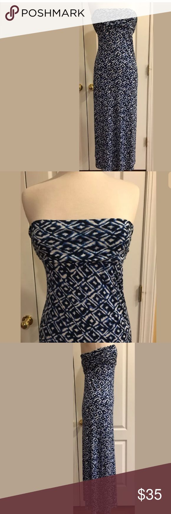 Laundry By Shelli Segal Long Dress Size Small Beautiful long summer dress in excellent condition, free of any flaws. This dress is perfect for summer! Laundry by Shelli Segal Dresses Strapless