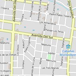 Mapa de Villa de Merlo - Mapa de Villa de Merlo mostrando hoteles y restaurantes
