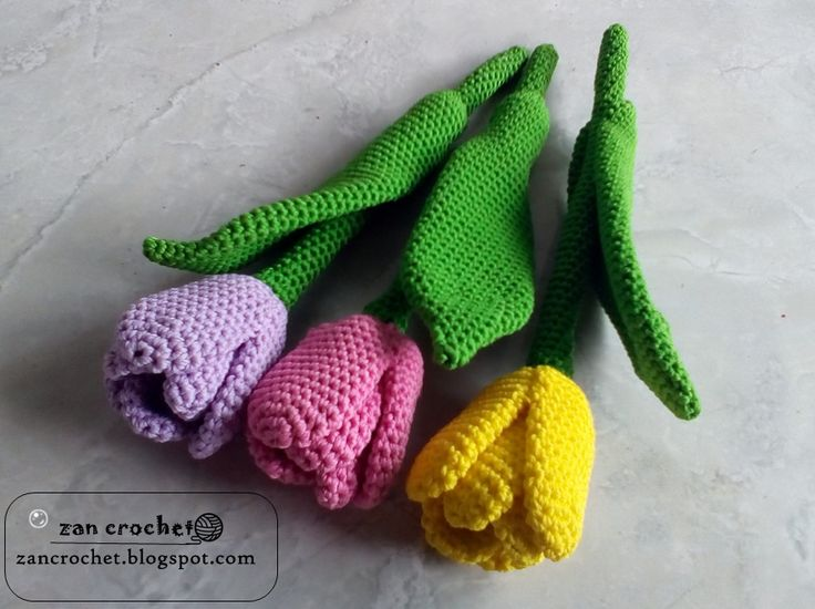 Crocheting In A Sentence : Crochet Tulip flower for beginner... My English is not too good and i ...