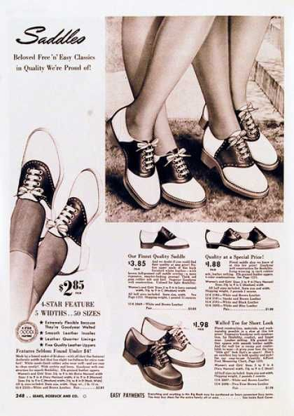 Endlessly classic saddle shoes - ad from 1942