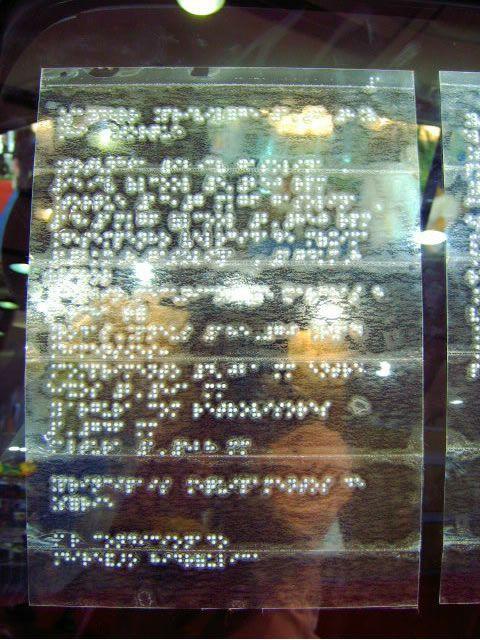 Braille placa sinalização