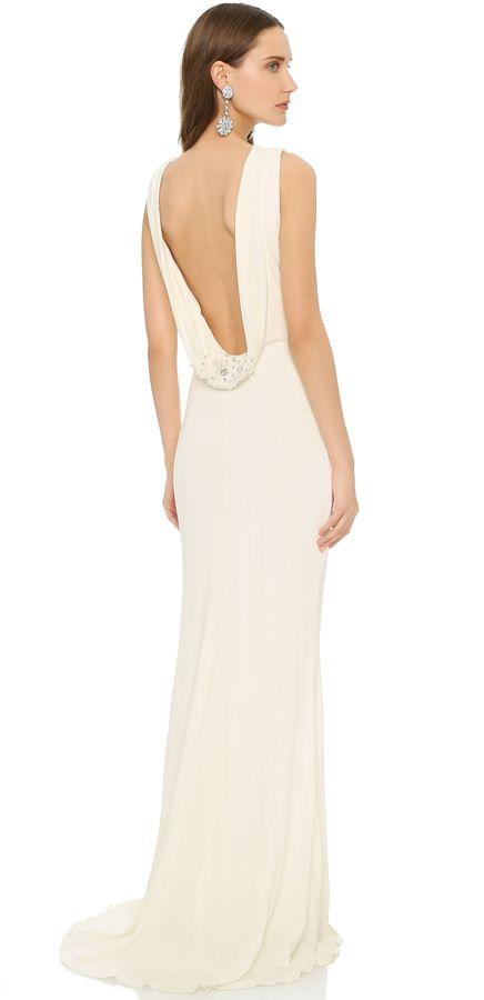 1000 ideas about cowl back dress on pinterest back for Cowl back wedding dress