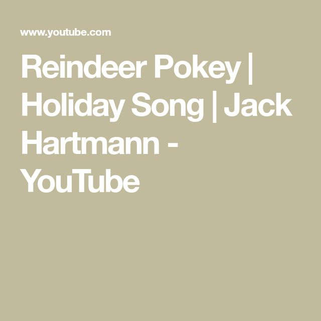 Reindeer Pokey | Holiday Song | Jack Hartmann - YouTube ...