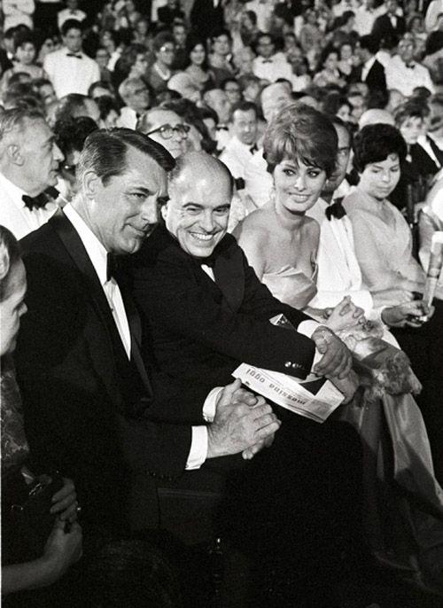 Cary Grant, Carlo Ponti, and Sophia Loren (David di Donatello - 1960)