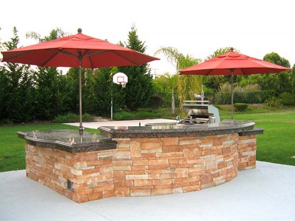 Simple outdoor kitchens and patios outdoor kitchen for Simple outdoor kitchen plans