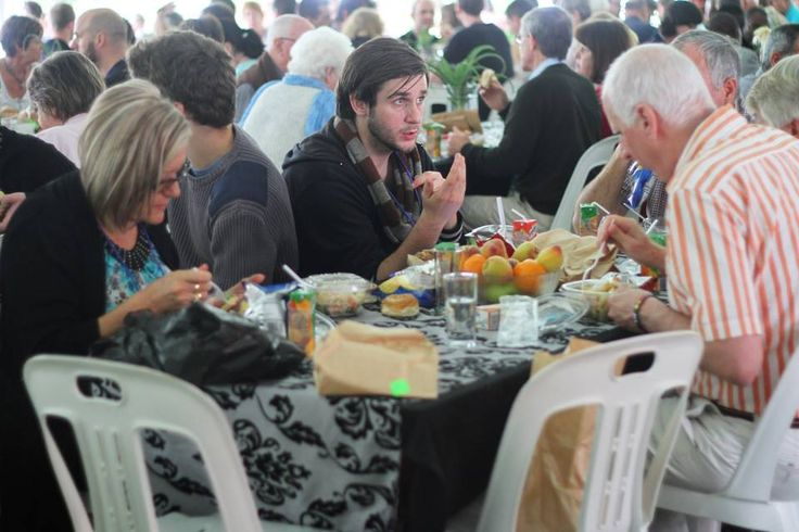 #GLS14 Guests enjoying lunch at Kloof Harvest church in Kloof