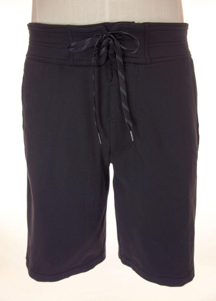 LULULEMON Mens Shorts Size M Black Casual Lace Up Drawstring Waist Track #Lululemon #Shorts