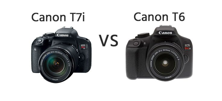 Canon T7i vs Canon T6 Comparison   https://dslrcamerasearch.com/canon-t7i-vs-canon-t6-comparison/ Today, we will be looking at a camera comparison for two units which have been released exactly a year apart. Whether you are looking for an upgrade o...  https://dslrcamerasearch.com/canon-t7i-vs-canon-t6-comparison/