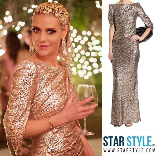 Dorit Kemsley wore a Talbot Runof dress on The Real Housewives of Beverly Hills  Shopping info at www.starstyle.com