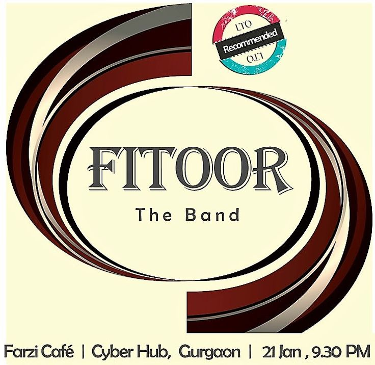 Oh ! For a #PLATEFULL OF GOOD MUSIC :) #Fitoor-e-music -- this Sat by Fitoor The Band @ Farzi Café, Cyber Hub -- Rarely do all good things come together n this one has it all #GOOD - Music, Food, locale, timing All it needs now is #YOU to complete the #GOODness! Be there ! Book #bands #artists for gigs @ www.localturnon.com/bookings #turnON #music || #turn #ON #happiness || #turn-ON #life !
