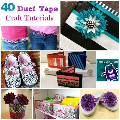 DIY Duct Tape Craft Tutorials. Pin now, read when I come home with a bus full of duck tape...