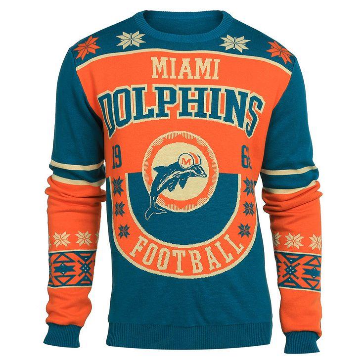 Miami Dolphins Cotton Retro Sweater from UglyTeams | Cotton Retro ...