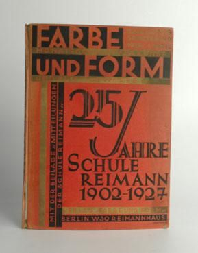 Original And Rare Bauhaus Book Published By The German Magazine Farbe Und Form