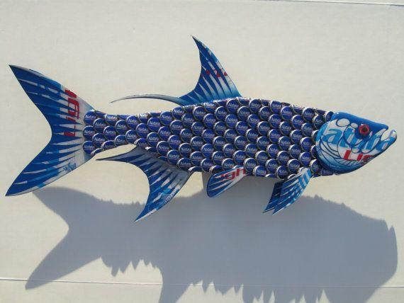Fish Wall Art Natural Light Bottlecap Tarpon Fish by EricsEasel