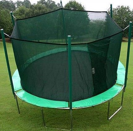New Round Trampoline with Enclosure