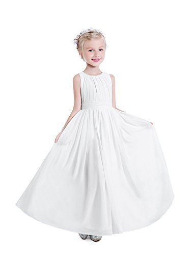 137d7a990a1 Castle Fairy Little Girls Holy Communion Dresses Scoop Special Occasion  Bridesmaid Dress