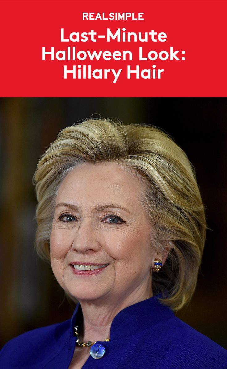 Last-Minute Halloween Look: Hillary Clinton Hair | For those who have procrastinated on a Halloween costume, we're here to help you pull a hit together fast. Follow these simple steps from Siobhan Quinlan, a hairstylist at Art + Autonomy in New York City, to pull off one of these power 'dos—no wig required!
