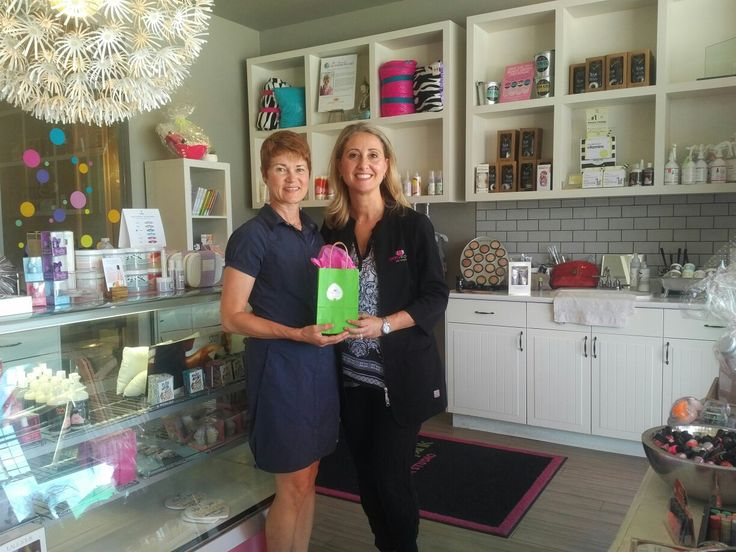 Congratulations Sherry winner of a Pretty in Pink Spa gift card #Oakville #shoplocal #springcleaning