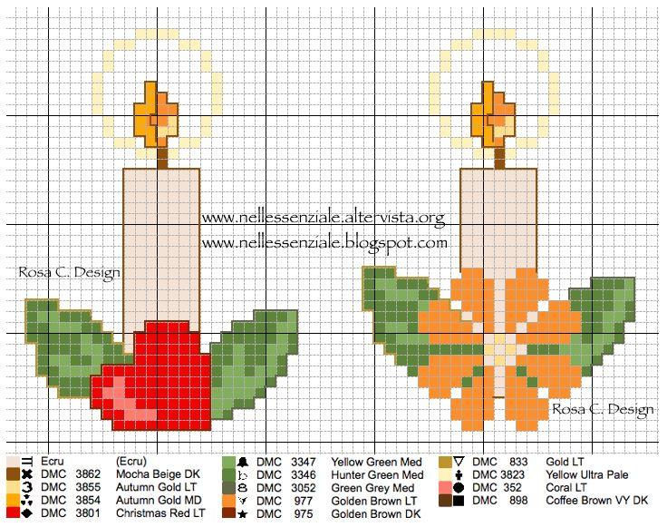Schema punto croce: Candele Natalizie - Creative Embroidery-