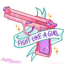 Fight Like A Girl Sticker Set