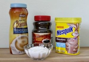 Ingredients for French Vanilla Cappuccino Mix