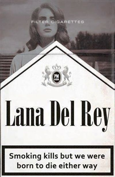 Lana Del Rey ; Cigarettes Art Print - again another talented person lives...