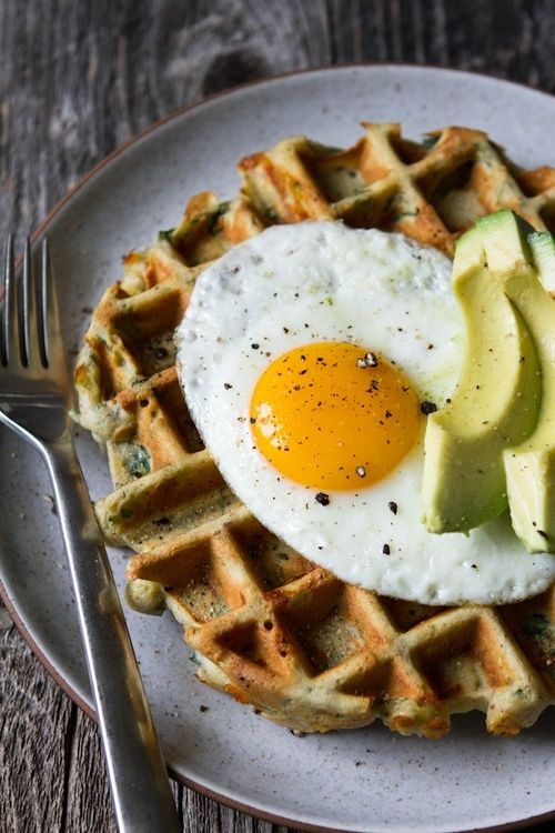 Savory Spinach & Cheese Waffles | Food & Drink | Pinterest