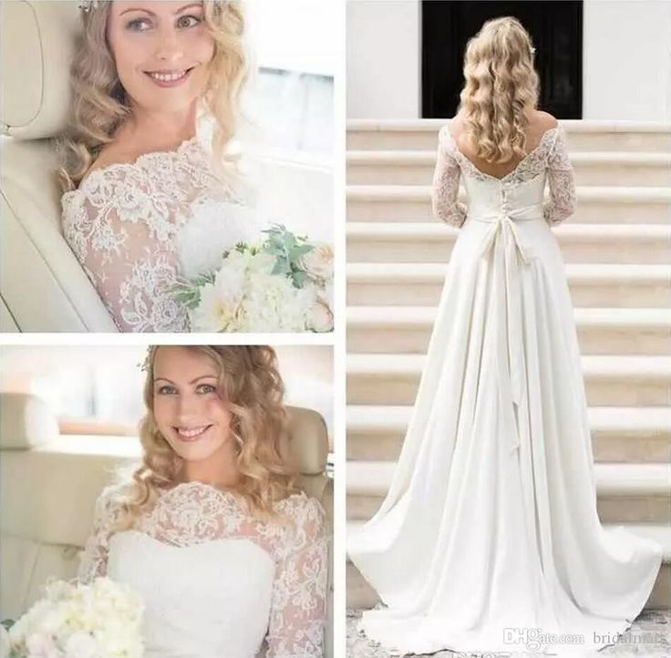 Cheap 2017 Oleg Cassini Modest Vintage Wedding Dresses With Long Sleeves Lace Applique Off Shoulder Garden Outdoor Plus Size Bridal Gowns As Low As $157.79, Also Buy Cheap Wedding Dresses Uk Colored Wedding Dresses From Gaogao8899| Dhgate Mobile