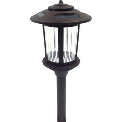 threshold plastic 6 lumen solar pathway light bronze for the. Black Bedroom Furniture Sets. Home Design Ideas