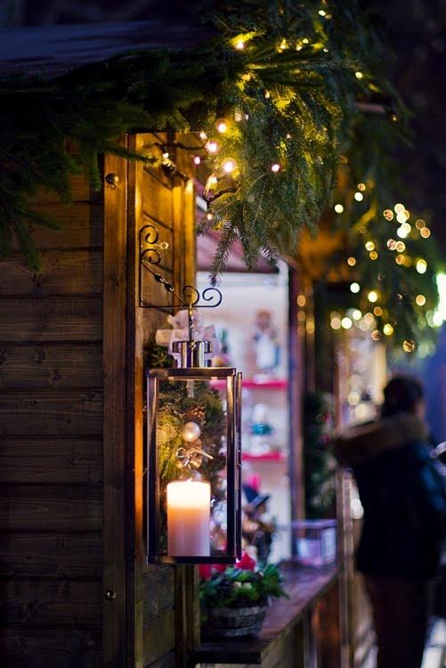 Lantern at Christmas market.