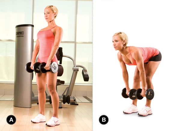 STIFF-LEGGED DEADLIFT Target Muscles: hamstrings Synergist Muscles: gluteus maximus, adductor magnus