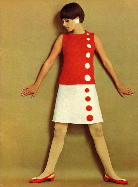 szüret mindennapi: gyönyörű kötött ruha divat az 1960-as évek