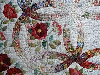 <3 wedding ring quilts. This one is gorgeous!