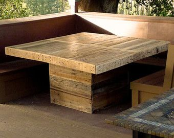 Table With Wrap Around Benches. I Like This Idea For Sometime In The Future
