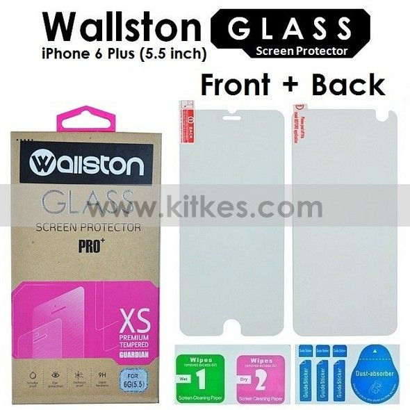 Wallston Tempered Glass Screen Protector (Depan + Belakang) iPhone 6 Plus - Rp 75.000 - kitkes.com