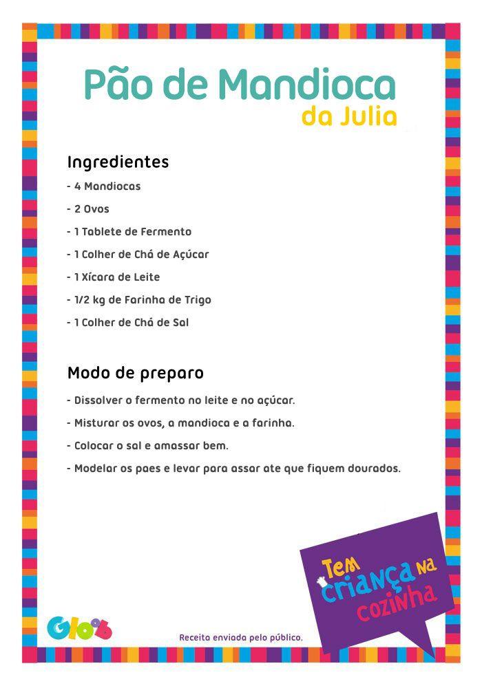 Pão de Mandioca da Julia