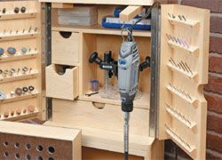 Rotary Tool Cabinet-I am green with envy.