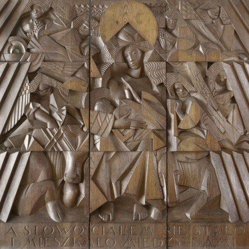 ołtarz Jana Szczepkowskiego na Międzynarodowej Wystawie Sztuki Dekoracyjnej i Przemysłowej w Paryżu w 1925 r.