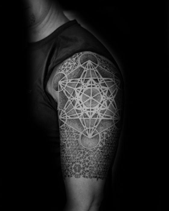 60 Metatron's Cube Tattoo Designs For Men – Geometric Ink Ideas